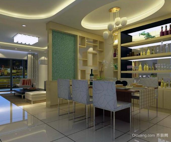 2016欧式风格小户型餐厅装修效果图实例