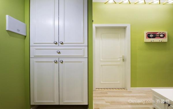 绿色清新:北欧三房两厅家庭装修设计效果图