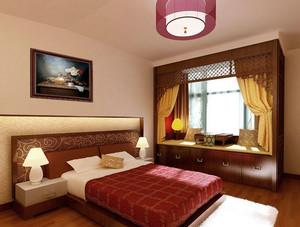 高贵深色系复古风格25平米卧室装修效果图