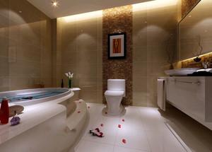 实用型大户型混搭风格卫生间瓷砖装修图