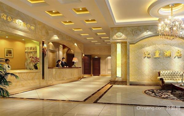 现代都市商务酒店吊顶装修效果图实例