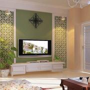 田园60平米客厅室内电视背景墙装修图