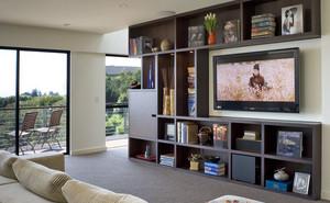 郊区别墅大户型家庭简约客厅收纳设计图