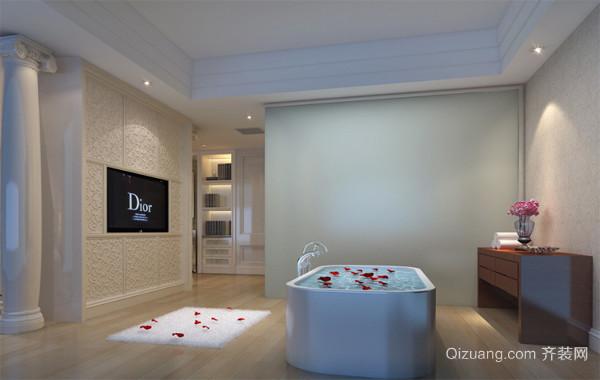 2016大户型欧式风格浴室背景墙装修效果图