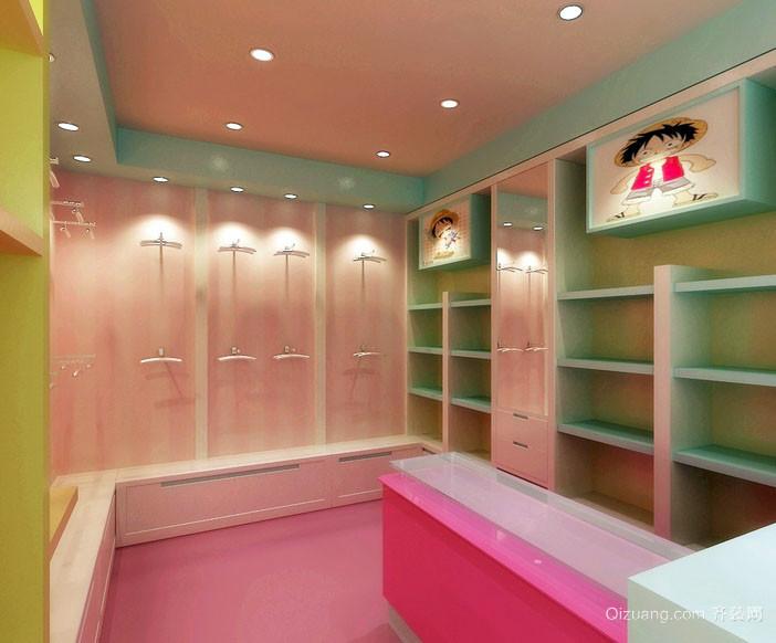 32平米小户型童装店面轻快装修效果图