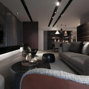 三居室现代化吊顶欣赏