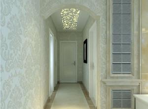 154平米三居室过道简欧风格吊顶装修图