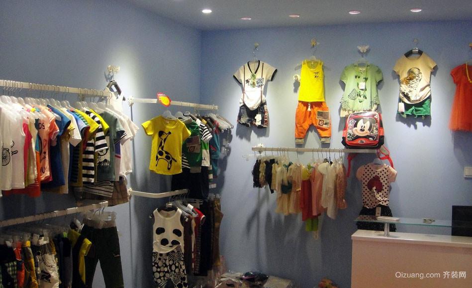 2016现代小型童装店面一角装修效果图