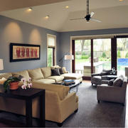 现代北欧风格大户型客厅室内装修效果图欣赏