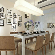 三居室家庭餐厅照片墙展示