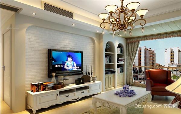 2016小户型家装欧式电视背景墙装修效果图