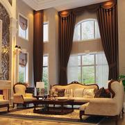 二居室欧式精致的飘窗窗帘装修效果图