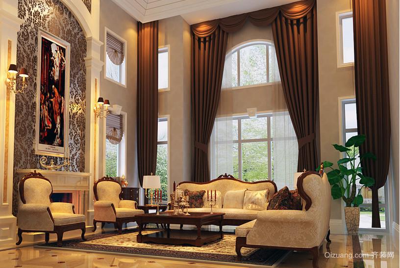 0平米欧式风格大户型房屋客厅装修效果图