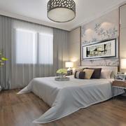 2016三居室现代简约卧室装修效果图实例