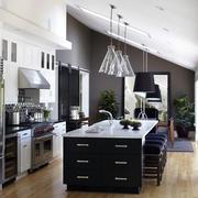 后现代风格斜顶阁楼厨房装修样板房