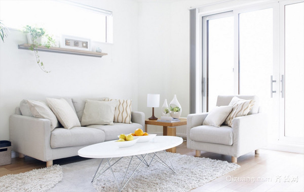 时尚100平米公寓客厅简约装修效果图