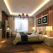 暖色调卧室背景墙