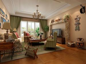 文雅60平米田园客厅室内装修效果图大全