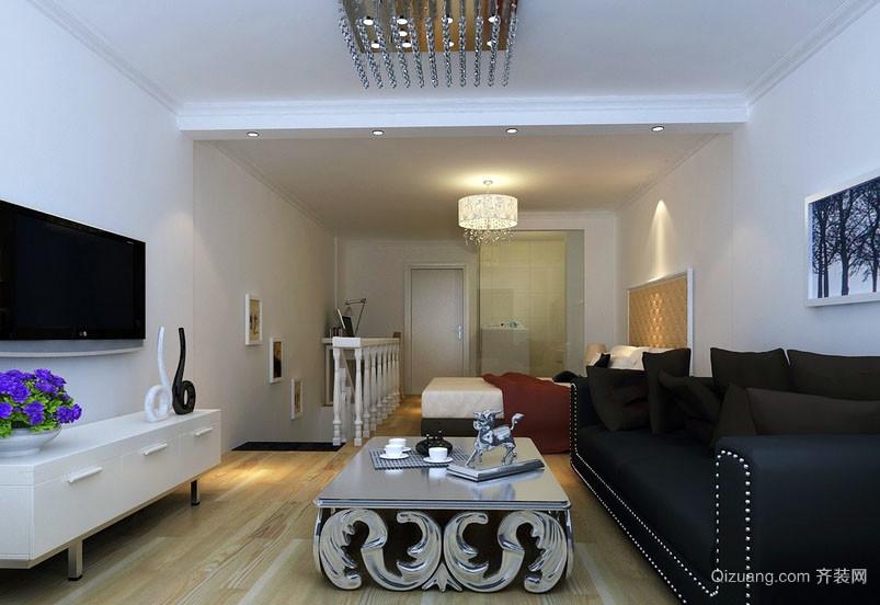 现代都市60平米室内客厅装修效果图大全
