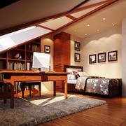 复式楼新中式阁楼书房装修样板房