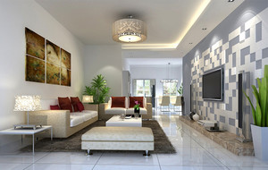 宜家2016两室一厅客厅简约装修效果图