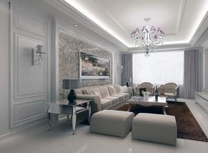 北欧风格大户型客厅电视背景墙装修效果图