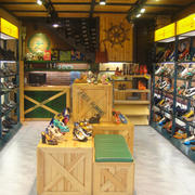鞋店实木展示柜