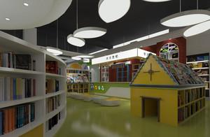 彩色现代化大户型儿童书店设计效果图