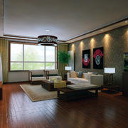 极致精美的现代大户型中式客厅装修效果图