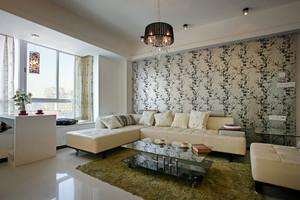 两室一厅60平米朴素室内客厅装修效果图