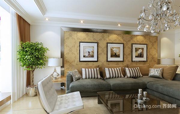 90平米大户型欧式室内沙发背景墙装修效果图