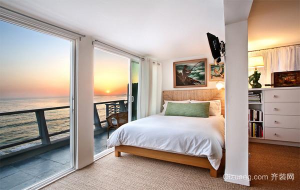 小户型欧式公寓式住宅卧室背景墙装修效果图