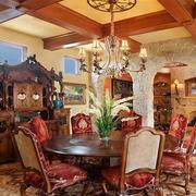 复古美式风格餐厅展示