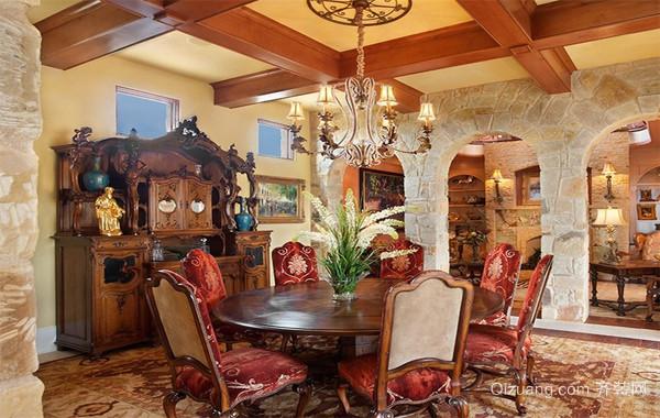 永恒经典:大户型复古风格餐厅装修效果图