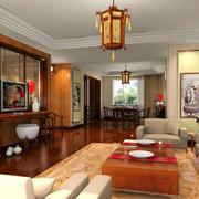60平米新中式客厅室内装修效果图大全