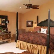 复古卧室床展示