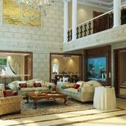 别墅客厅家具布置
