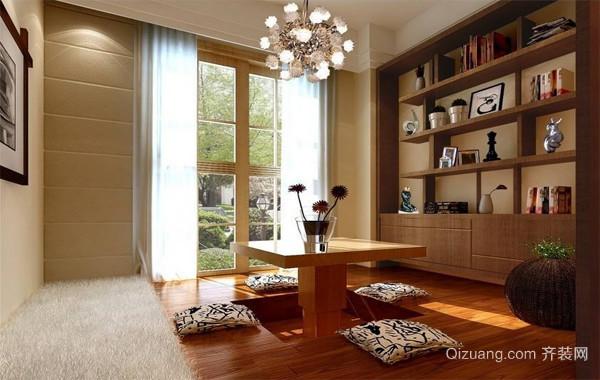 小户型精装现代榻榻米书房装修效果图实例