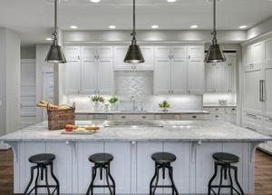 现代都市大户型开放式厨房装修效果图