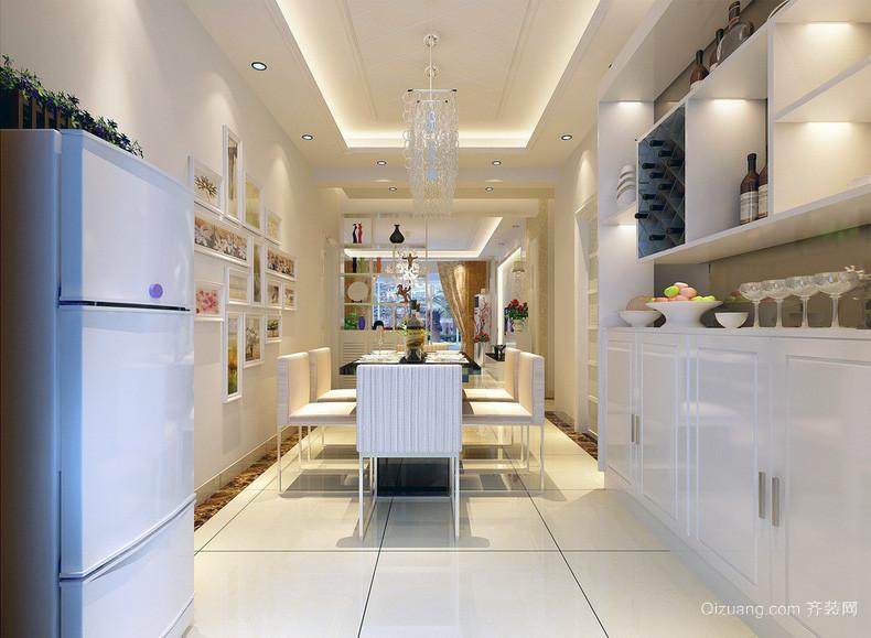 2016欧式风格小户型餐厅简单装修效果图