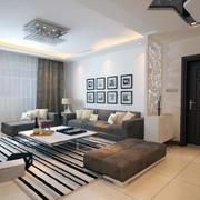 小户型现代简约客厅装修风格效果图实例