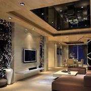 后现代客厅玻璃吊顶