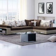 朴素一室一厅公寓客厅顾家沙发图片
