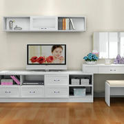 白色时尚电视柜欣赏