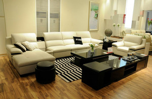 简约风格两室一厅客厅顾家沙发图片