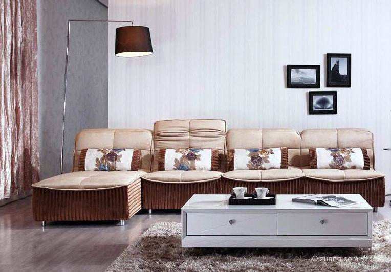 2016后现代风格三室一厅客厅顾家沙发图片