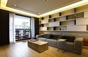 116平米大户型日式风格客厅置物柜效果图