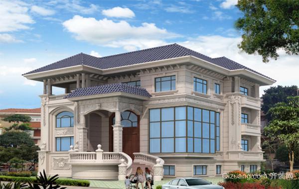 独栋私人别墅简欧风格外观设计效果图