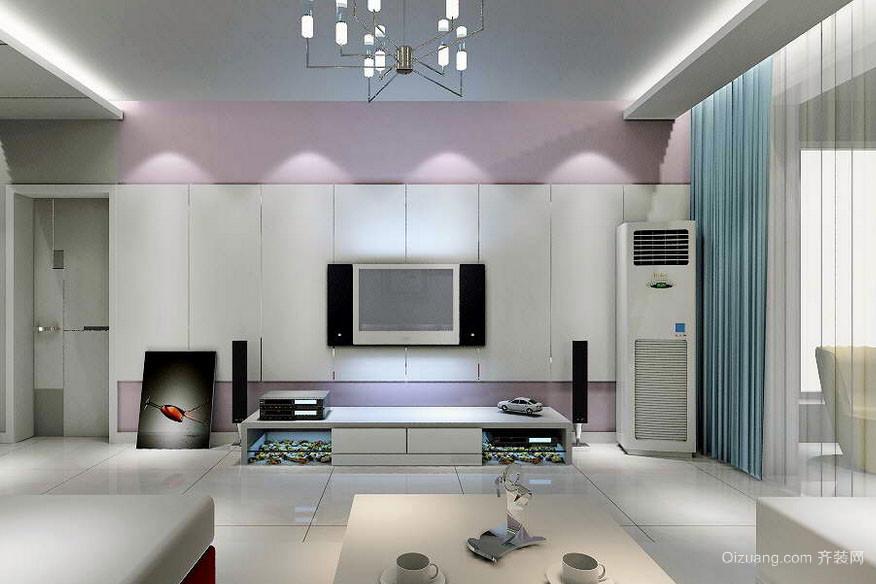 100平米两室一厅现代影视墙装修 效果 图大全