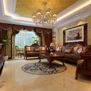 2016大别墅美式古典风格客厅装修效果图